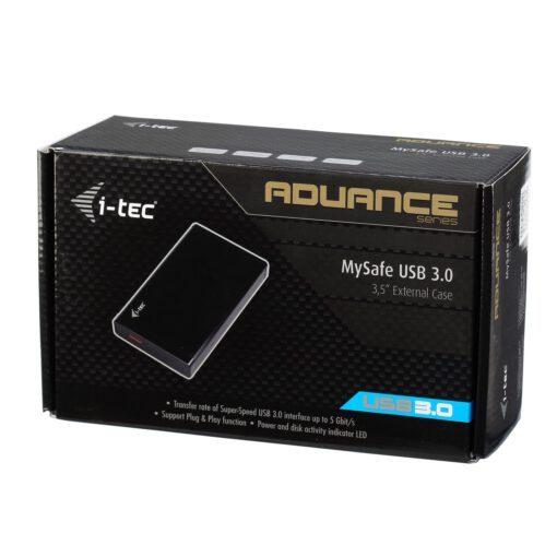 """i tec MYSAFE35U401 INT 5 Laufwerksgehäuse, i-tec MySafe Advance Black 3.5"""" USB 3.0"""