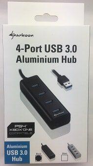 IMG 2403 1 USB-Hub, Sharkoon 4-Port USB 3.0 Aluminium Hub