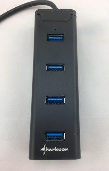IMG 2405 1 USB-Hub, Sharkoon 4-Port USB 3.0 Aluminium Hub