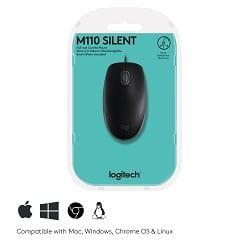 Logitech 910 005508 INT 7 Logitech B110 Maus USB Optisch