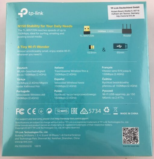TP Link 2 TP-LINK TL-WN725N Netzwerkkarte WLAN